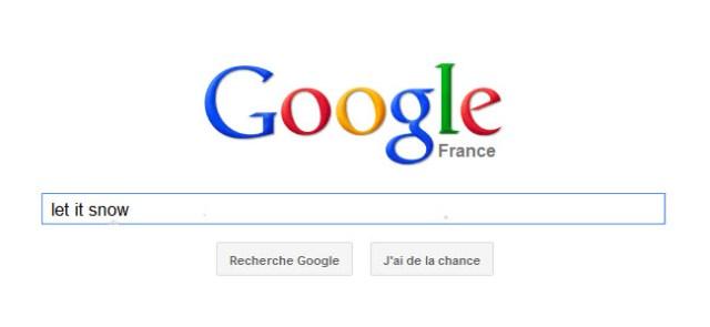 Google : tapez