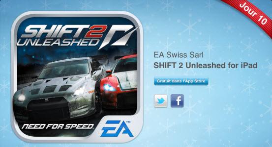 12 jours cadeaux iTunes – Jour 10 : le jeu Need For Speed SHIFT 2 Unleashed