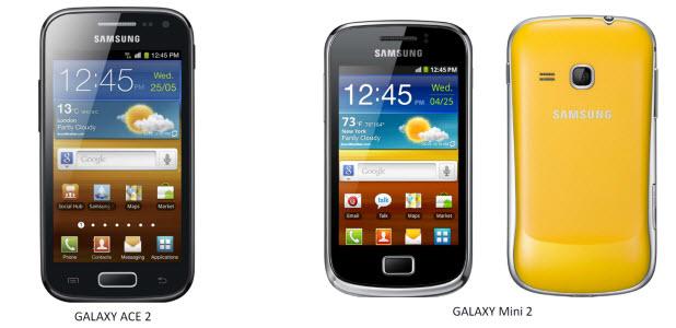Galaxy Ace 2 et Galaxy Mini 2