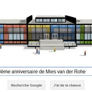 Google fête le 126ème anniversaire de l'architecte allemand Mies van der Rohe