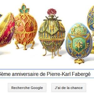 Google fête le 166ème anniversaire de Pierre-Karl Fabergé