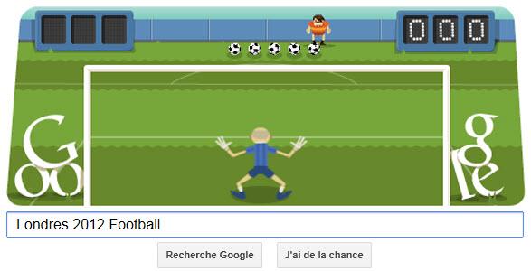 #Londres2012 - Google met à l'honneur le Football avec un Doodle