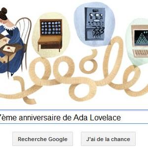 Google fête le 197ème anniversaire de Ada Lovelace