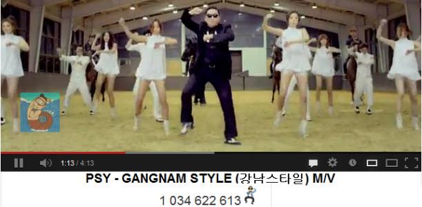 Le Gangnam Style de Psy dépasse le milliard du vues sur Youtube !