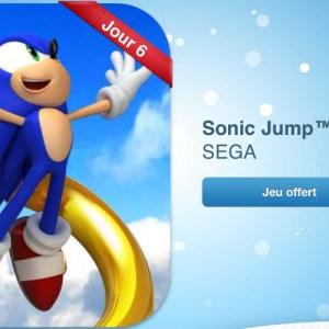12 jours cadeaux iTunes 2012 – Jour 6 : le jeu Sonic Jump