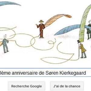 Google fête le 200ème anniversaire de Søren Kierkegaard