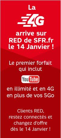 La 4G débarque chez RED de SFR à compter du 14 janvier 2014
