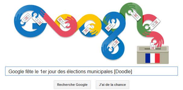Google fête le 1er jour des élections municipales [Doodle]