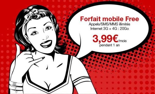 #FreeMobile brade son forfait à 19,99€ sur Vente-privee.com à 3,99€/mois