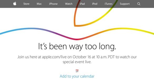 La keynote d'Apple sera diffusée en direct le 16 octobre 2014 à 19h!