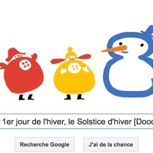Google célèbre le 1er jour de l'hiver, le Solstice d'hiver [Doodle]