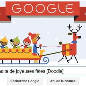 Google vous souhaite de joyeuse fêtes [Doodle]