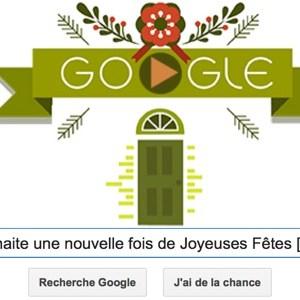 Google vous souhaite une nouvelle fois de Joyeuses Fêtes [Doodle]