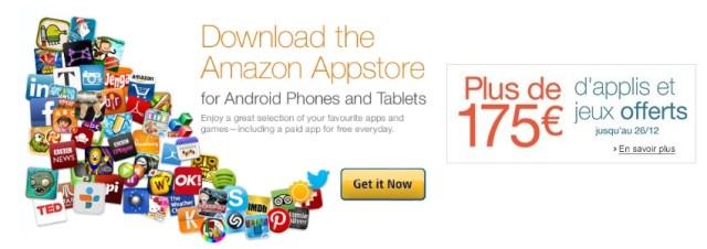 Le cadeau de noël d'Amazon : 175€ de jeux et d'applications