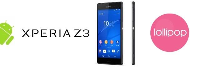 Sony Xperia Z3 : la mise à jour Lollipop pour janvier