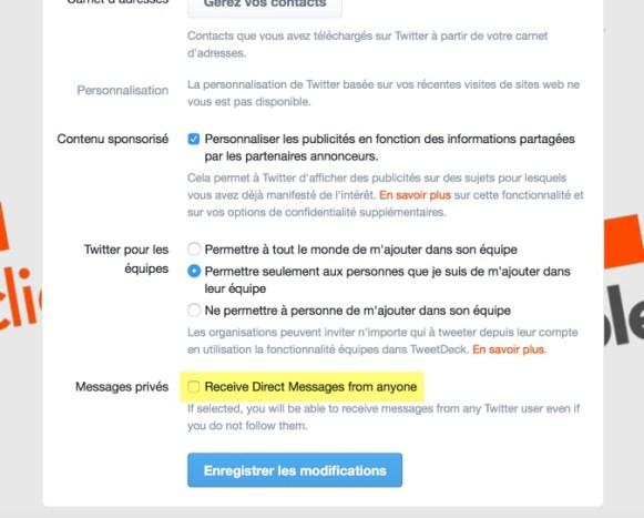 Twitter permet (de nouveau) d'envoyer des messages privés à quiconque