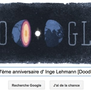 Google fête le 127ème anniversaire d'Inge Lehmann [Doodle]
