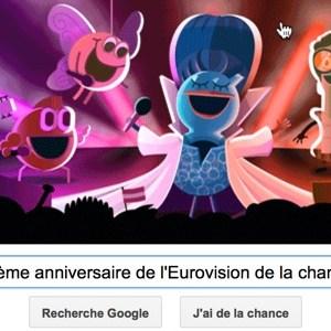 Google fête le 60ème anniversaire du concours de l'Eurovision de la chanson [Doodle]
