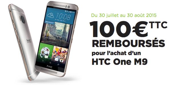100€ remboursés pour l'achat d'un HTC One M9