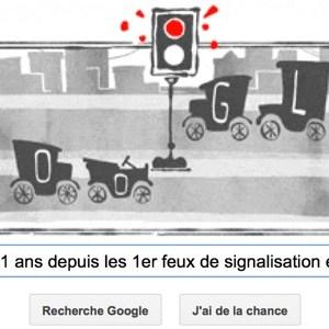 Google fête les 101 ans depuis les 1er feux de signalisation électriques [Doodle]