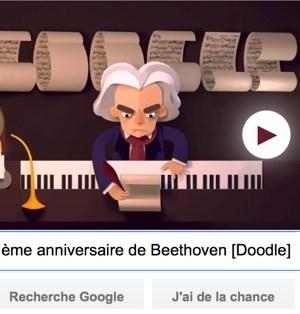 Google fête le 245ème anniversaire de Beethoven [#Doodle]