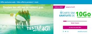 Bouygues Telecom vous propose de tester gratuitement son réseau 4G