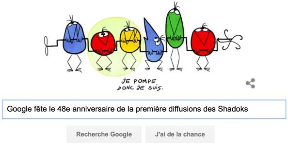 Google fête le 48e anniversaire de la première diffusions des Shadoks [#Doodle]