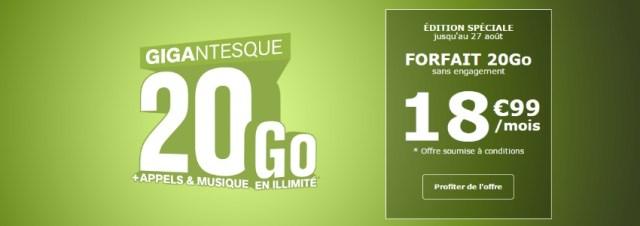 La Poste Mobile propose un forfait édition spéciale 20Go pour 18,99€ par mois à vie