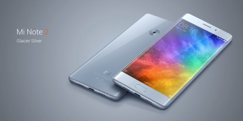 Le Xiaomi Mi Note 2 est maintenant officiel