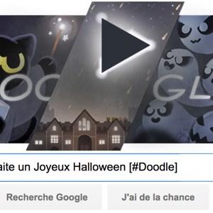Google vous souhaite un Joyeux Halloween 2016 [#Doodle]