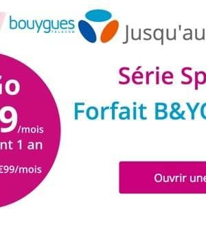 B&You propose un forfait 50 Go à 9,99€/mois pendant un an