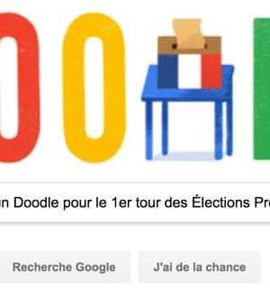 Google propose un #Doodle pour le premier tour des Élections Présidentielles 2017