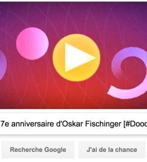 Google fête le 117e anniversaire d'Oskar Fischinger [#Doodle]