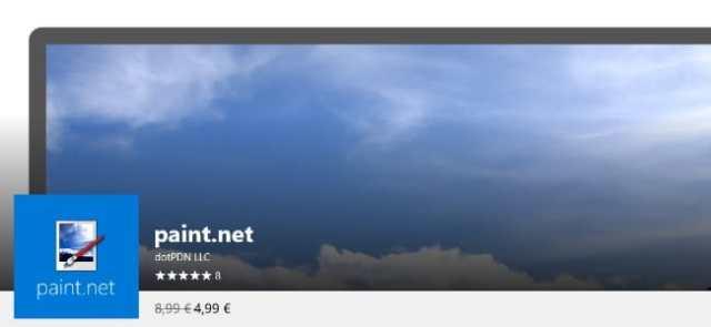 L'application de retouche Paint.net est dispo dans le Windows Store