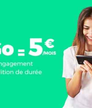 RED by SFR propose 30Go en 4G à 5€/mois sur ShowroomPrive.com