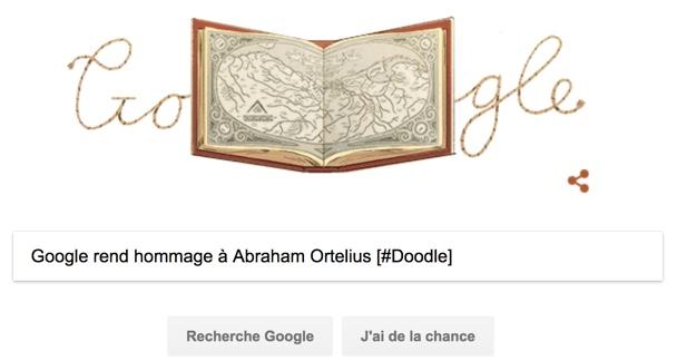 Google rend hommage à Abraham Ortelius [#Doodle]
