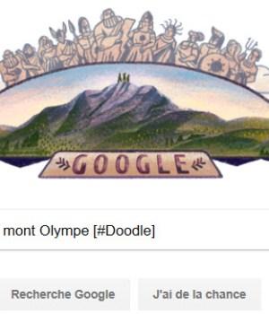 Google célèbre le mont Olympe (Mount Olympus) [#Doodle]