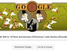 Google fête le 187ème anniversaire d'Ebenezer Cobb Morley [#Doodle]