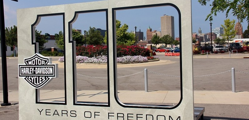 110 Years of Freedom. Harley Davidson 110th Anniversary on the Summerfest Grounds in Milwaukee, WI