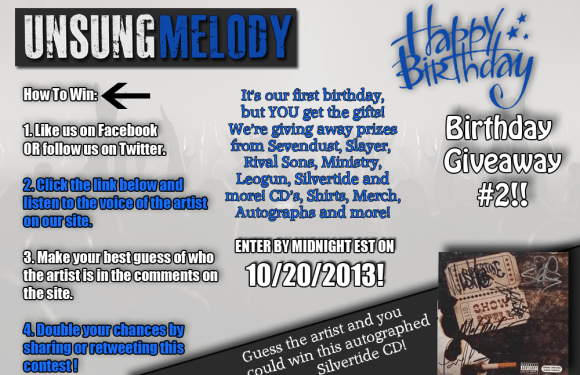 Unsung Melody's Birthday Giveaway #2!!