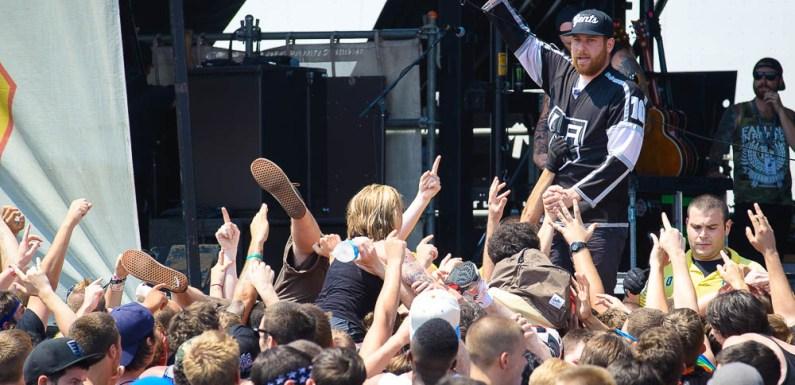 Vans Warped Tour 2014: The Ghost Inside at the Vans Warped Tour in Camden, NJ