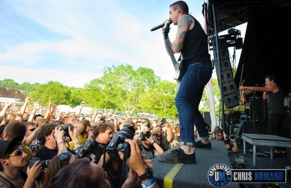 Vans Warped Tour 2014: Yellowcard at the Vans Warped Tour in Holmdel, NJ