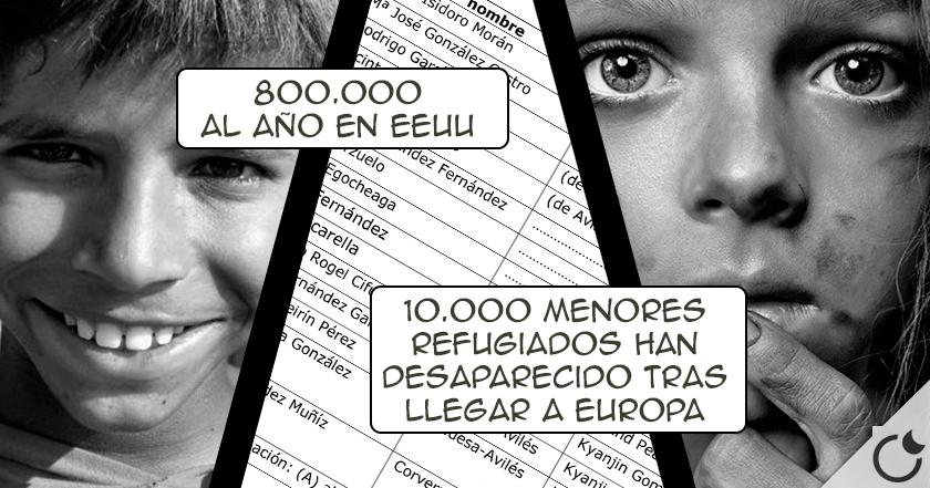 Resultado de imagen de Cada año en EUROPA DESAPARECEN MAS DE 250.000 NIÑOS