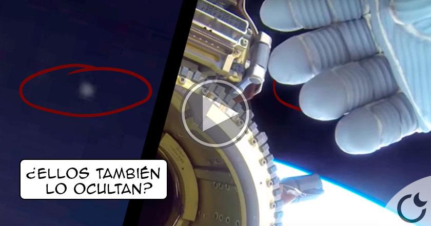 Resultado de imagen de Astronauta de NASA OCULTA con su mano la aparición de un OVNI