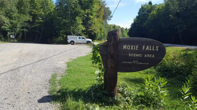Moxie Falls parking area.