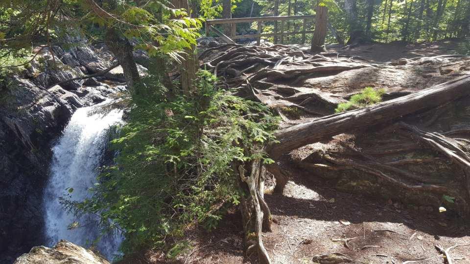 Moxie Falls in Maine.