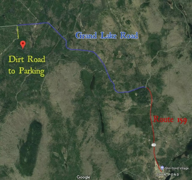 Driving directions to Shin Brook Falls.