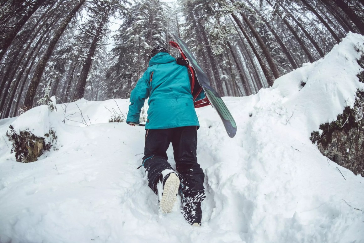 Maine back country winter exploration