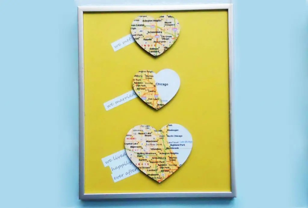 Label each location and frame the piece for keepsake art gift for your significant other.