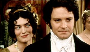Anna Chancellor e Colin Firth, in P&P, BBC 2005